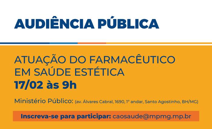 Atuação do farmacêutico em saúde estética é tema de audiência pública